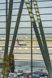 BUDAPEST, le 10 octobre 2017 - aéroport de Ferihegy à Budapest, Hongrie Photographie stock