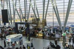 BUDAPEST, le 10 octobre 2017 - aéroport de Ferihegy à Budapest, Hongrie Image libre de droits