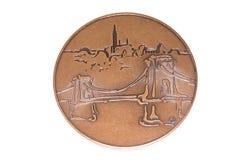 Budapest-Leichtathletik-Europameisterschafts-Teilnahmemedaille 1998, Rück Kouvola, Finnland 06 09 2016 lizenzfreies stockbild