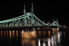 Budapest (Liberty Bridge) 2. The illuminated Liberty Bridge in Budapest, Hungary. The Bridge was constructed by Eiffel stock photos