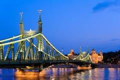 Budapest Liberty Bridge arkivbilder