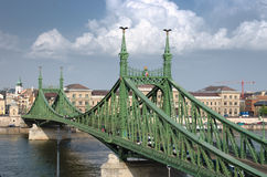 Budapest, Liberty Bridge On Danube River Royalty Free Stock Image