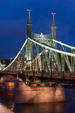Budapest Liberty Bridge Royalty Free Stock Photos