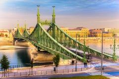 Budapest, Liberty Bridge, Hungría Fotografía de archivo