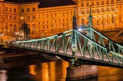 Budapest Liberty Bridge at night Royalty Free Stock Photography
