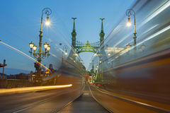 Budapest Liberty Bridge at Night Royalty Free Stock Images
