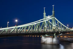 Budapest Liberty Bridge at Night Royalty Free Stock Photos