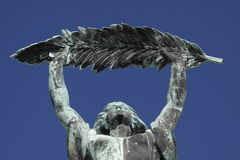 Budapest - Liberty statue. The detail of Liberty statue in Budapest stock image