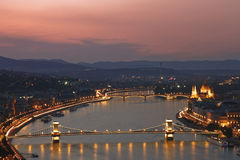 Budapest lights Stock Images