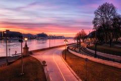 Budapest linia horyzontu, piękny pejzaż miejski historyczny okręg, Węgry, Europa obraz stock