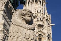 budapest lion Royaltyfria Bilder