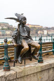 Budapest The little Princess Jester statue against Royalty Free Stock Images