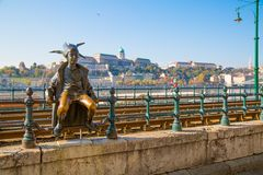 Budapest The little Princess jester statue Stock Photography