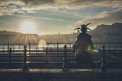 Budapest Little Princess tourist attraction and city symbol Royalty Free Stock Images