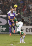 Ferencvárosi TC (FTC) vs. �jpest FC (UTE) football game Stock Photography