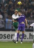 Ferencvárosi TC (FTC) vs. �jpest FC (UTE) football game Stock Photo
