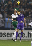 Ferencvárosi TC (FTC) vs. Újpest FC (UTE) football game Stock Photo