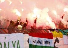 Ferencvárosi TC (FTC) vs. Újpest FC (UTE) football game Royalty Free Stock Images