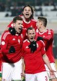 Hungary vs. Romania football game Royalty Free Stock Photos