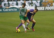 Ferencvárosi TC (FTC) vs. �jpest FC (UTE) football game Stock Images