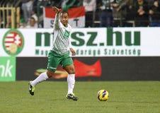 Ferencvárosi TC (FTC) vs. �jpest FC (UTE) football game Royalty Free Stock Image