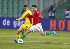 Hungary vs. Romania football game Stock Photo
