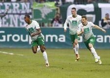 Ferencvárosi TC (FTC) vs. Újpest FC (UTE) football game Stock Photo