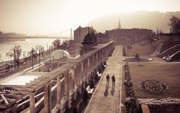 Budapest Margaret Bridge, artistic interpretation Royalty Free Stock Photo