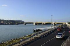 Budapest Margaret bridge editorial Stock Photography