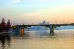 Budapest. Margaret Bridge. Stock Image