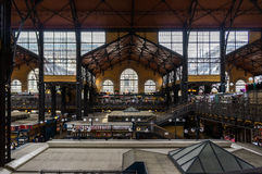 Budapest market hall. A wide view of the Budapest market hall Stock Photo