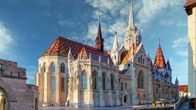 Budapest  Mathias church square Hungary  Time lapse stock footage