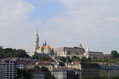 Budapest Matthias Church and Fisherman's Bastion Royalty Free Stock Photo