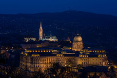 Budapest Matthias Church. Budapest,Hungary, Matthias Church in twilight. NIght view Royalty Free Stock Photo
