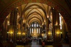 Budapest matthias church interior Royalty Free Stock Photos