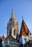 Budapest matthias church roof Stock Images
