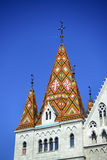 Budapest matthias church roof Stock Photos