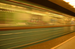 Budapest metro. The Budapest underground in a move Royalty Free Stock Photo