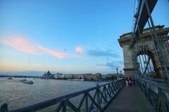 Budapest miasto i Danube rzeka przy zmierzchem Fotografia Royalty Free