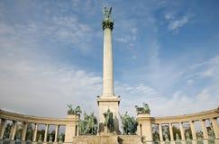 Budapest - The Millennium Monument Stock Photo