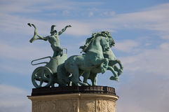 Budapest monument Royalty Free Stock Photo