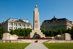 Budapest, the monument to Soviet soldiers Royalty Free Stock Photo