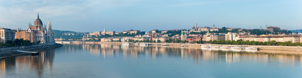 Budapest morning panorama Royalty Free Stock Photography