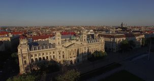 Budapest Museum of Ethnography, Hungary (AERIAL) stock video footage