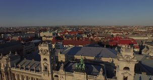 Budapest Museum of Ethnography, Hungary (AERIAL) stock footage