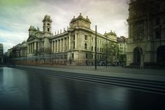 Budapest Museum of Ethnography. Landmark, Kossuth Lajos Square royalty free stock image
