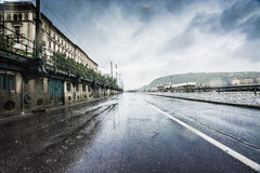 Budapest na chuva Fotos de Stock Royalty Free