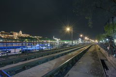 Budapest na noite, Hungria Imagem de Stock Royalty Free