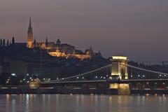 Budapest nachts Lizenzfreies Stockfoto