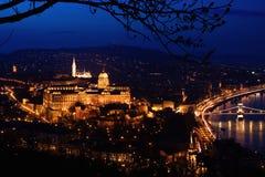 Budapest nachts Stockfotos
